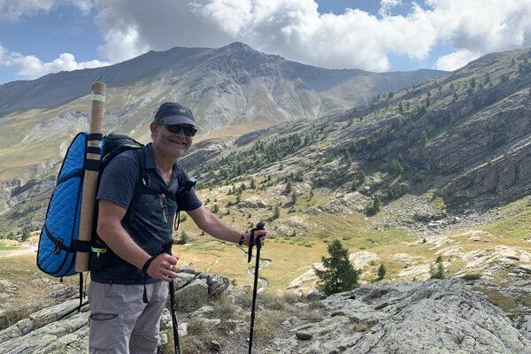 Marc Vieillefon au sommet de Musirando dans les Alpes !