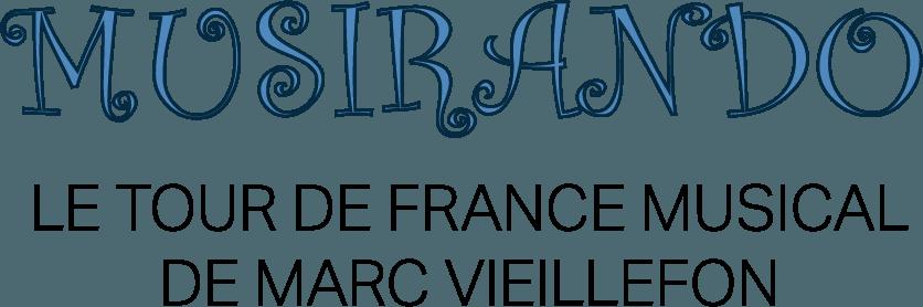 Logo de musirando, le tour de France musical de Marc Vieillefon