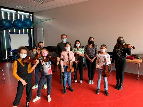 Les violonistes de Marion à Neuhof