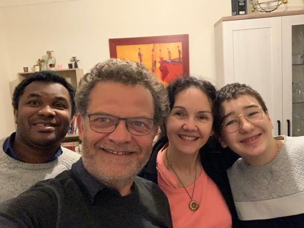 Marc avec Mathieu, Marie-Noëlle et Xavier