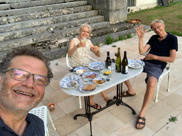 Marc Vieillefon avec Friedrich et Margarita au Domaine de la Garde