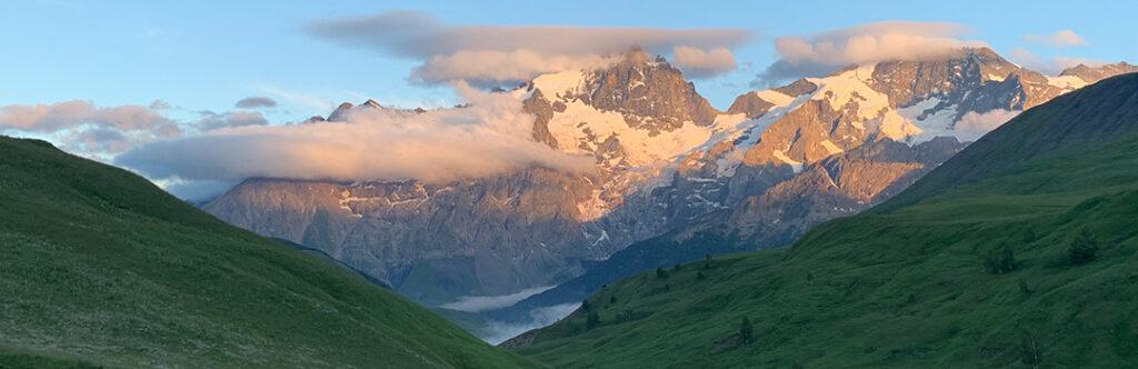 Paysage sur les Alpes