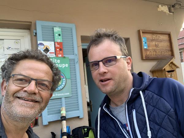 Marc Vieillefon et Jean-François au Corborant